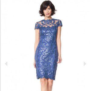 TADASHI SHOJI Paillette Embroidered Lace Dress
